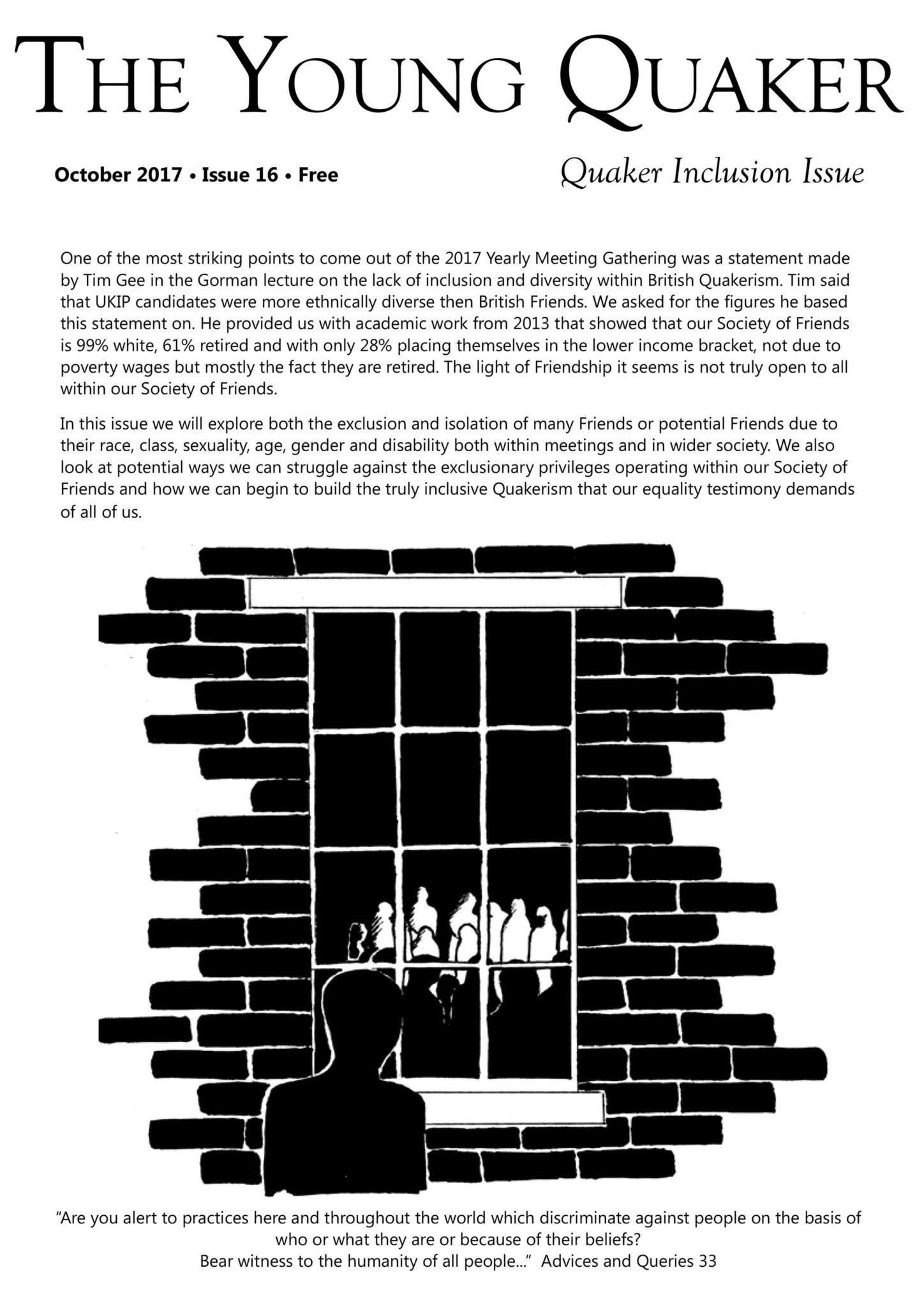 Issue 16: October 2017 – Quaker Inclusion Issue