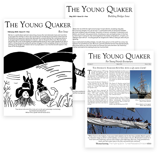 The Young Quaker magazine, cover images